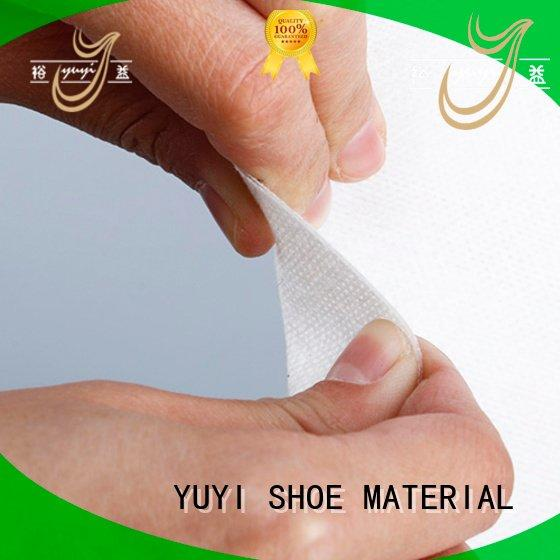 YUYI soft touch leather lining material reinforcement ypc