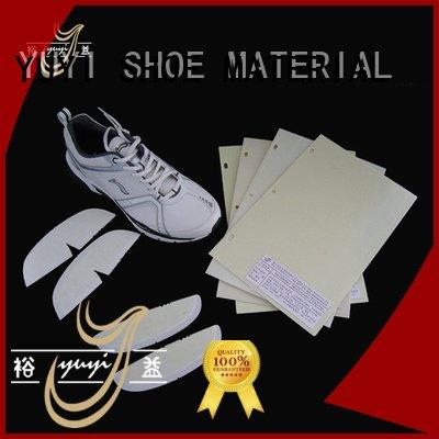 Quality toe puff and counter material YUYI Brand sheet shoe heel counter