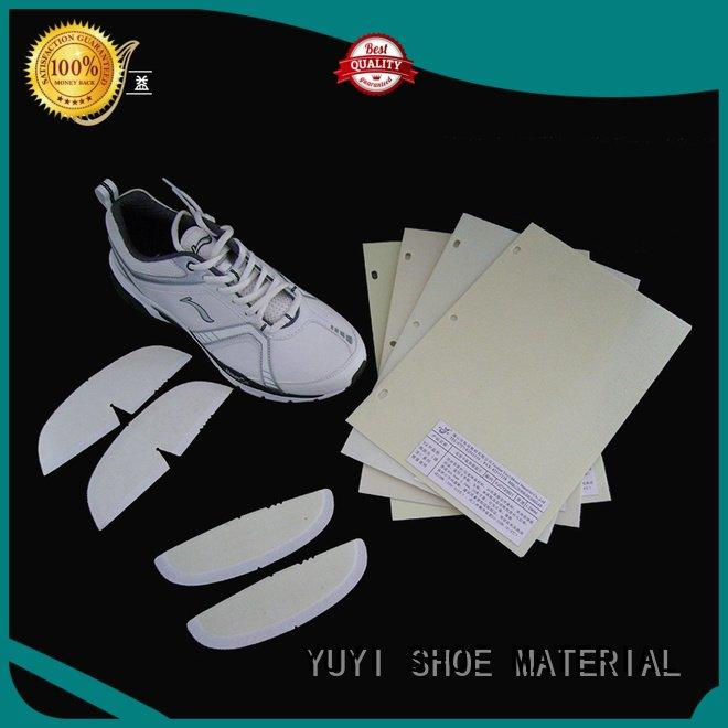 thermoplastic YUYI toe puff and counter material