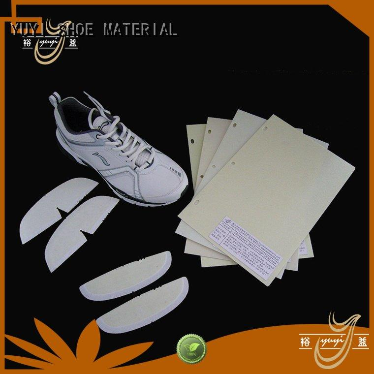 performance hotmelt toe puff and counter material YUYI Brand